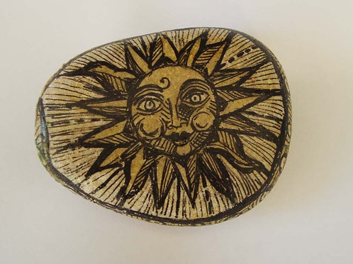 """""""Smiling Sun"""",1 hand painted stone"""