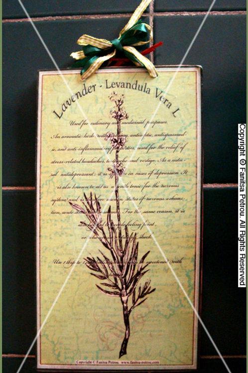 """""""Lavender"""" I, wooden sign"""