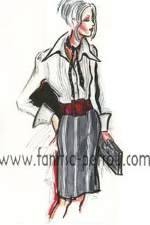 Fashion illustration - Black & White