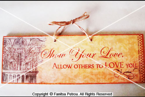 """Show your love"", wooden sign"