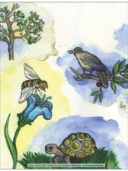"""""""Woodland creatures, II"""" card"""