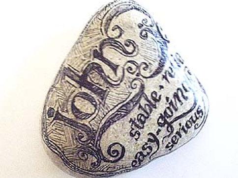 """""""John""""- Hand painted Name Stone"""