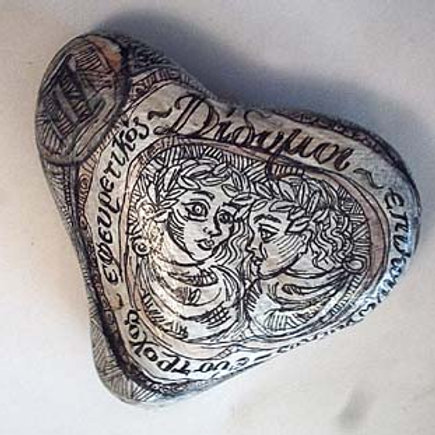Δίδυμος - Hand painted Zodiac Stone