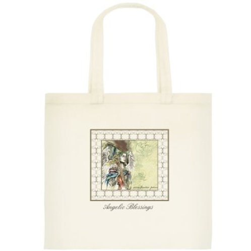 """Angel with violin"" tote bag /small, 1"