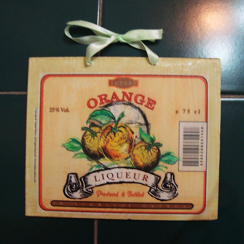 """Orange"", wooden sign"