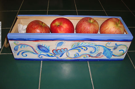 hand painted wooden box, kitchen decor, wooden container, shabby chic, Home decor, Decorative objects, Blue and white, wooden signs with messages, Art by Fanitsa Petrou, www.fanitsa-petrou.com