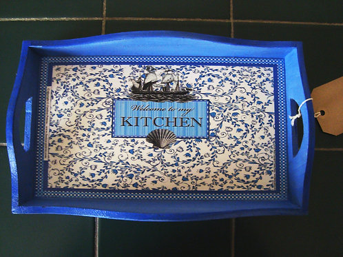 """""""Welcome to my Kitchen"""" Tray, I -small"""