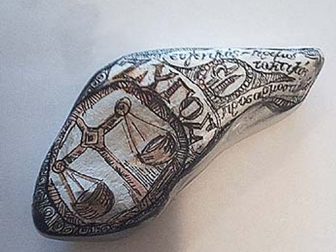 Libra 5 - Hand painted Zodiac Stone