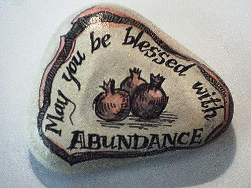 """Abundance"" - hand painted stone"
