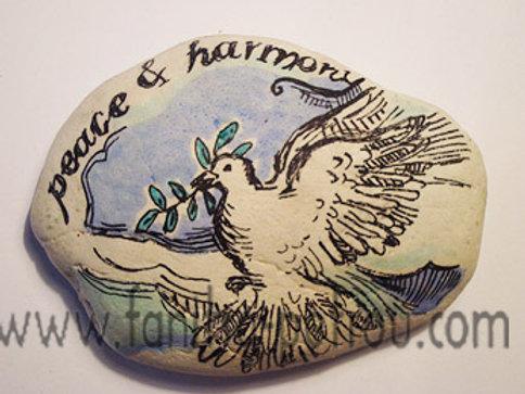 """""""Peace & Harmony"""" 2 - hand painted stone"""