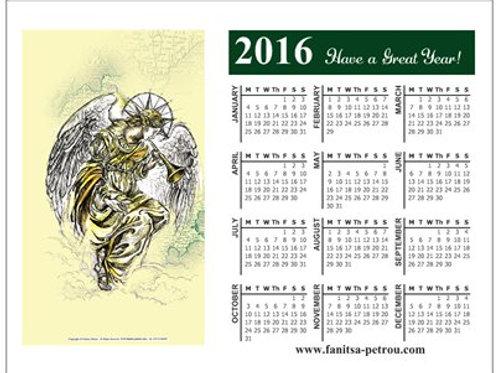 small Angel Magnet Calendar, 2016