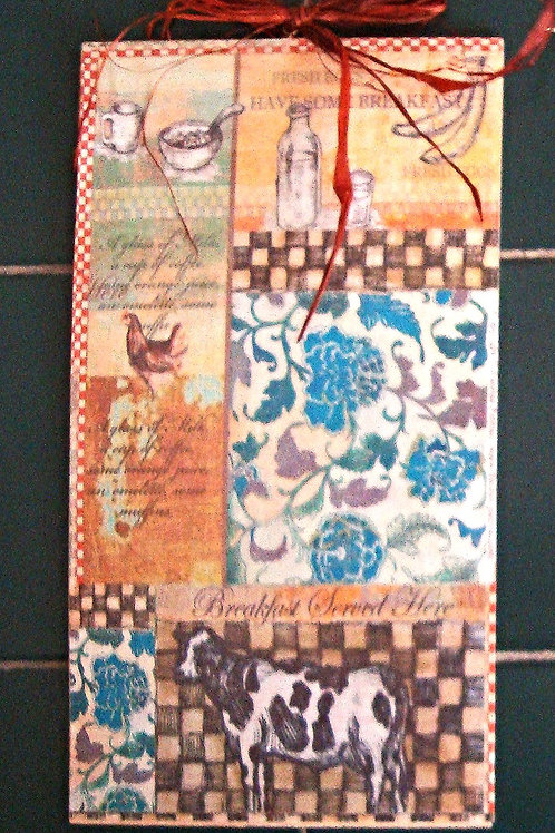 """""""French Country, 6""""- wooden sign"""