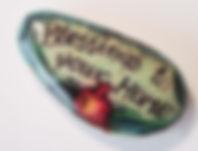 Fanitsa Petrou Art. hand painted stones by Fanitsa Petrou. blessings to you home stone, www.fanitsa-petrou.com