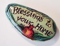 Fanitsa Petrou Art. hand painted stones by Fanitsa Petrou. blessings to you home stone, www.fanitsa-petrou.com