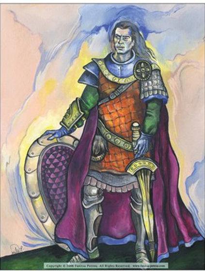 """Warrior king"" card"