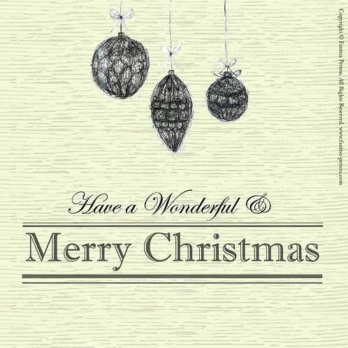 """Xmas ornaments 2"" card"
