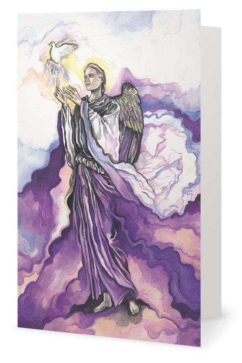 """""""Archangel Uriel"""" card - English"""