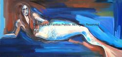 Reclyning mermaid