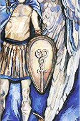 """Archangel Michael with dragon"" Bookmark"