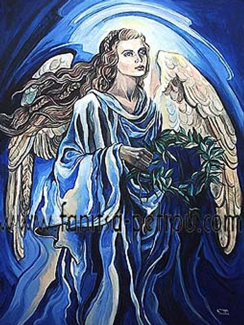"""""""Angel with olive branch"""" card"""