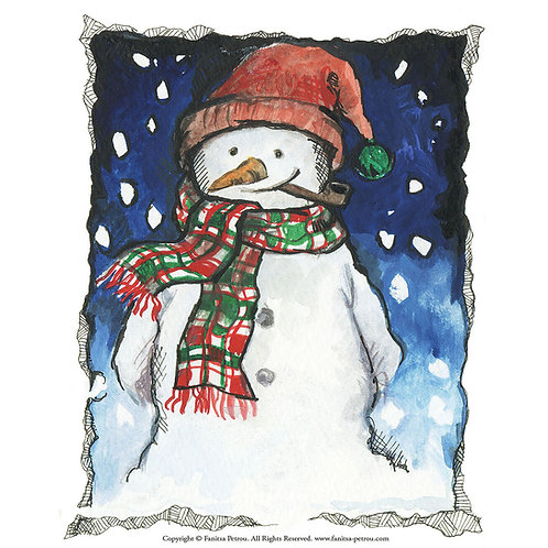 """Little snowman"" card / small"