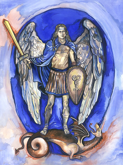 """Archangel Michael, I"" poster"