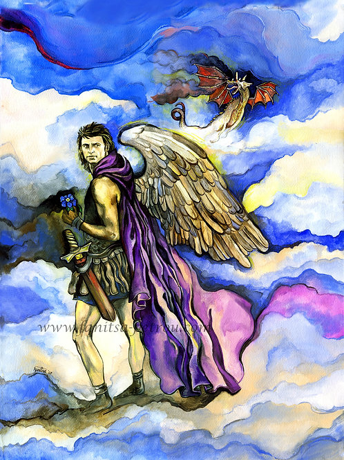 """Angel Seriel & dragon"""