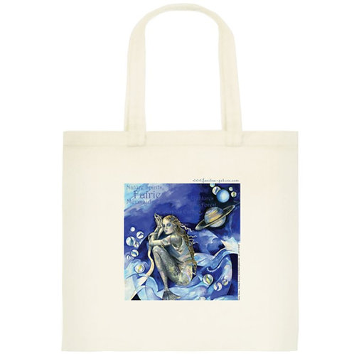 """Blue mermaid"" tote bag /small, 2"