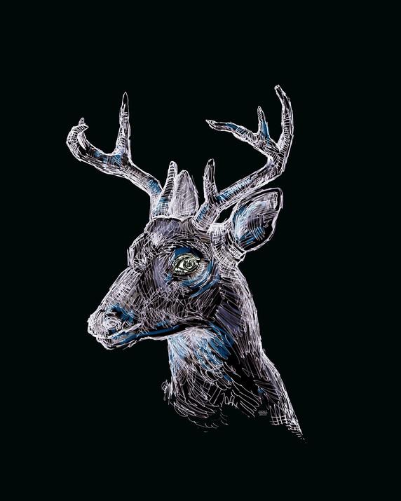 floral deer-deer-stug-downloadable-deer
