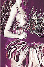 """""""Lady with Flowers"""" Bookmark"""