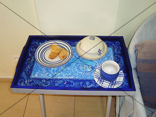 Blue & White Hand painted Table-Tray