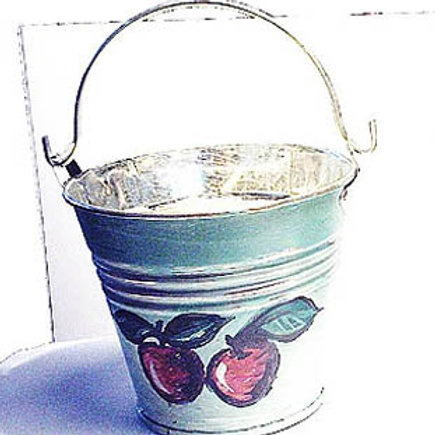 Cherries tin candle holder