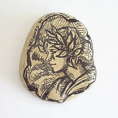 """Maiden""-2 hand painted stone"