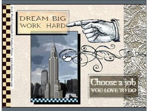"""Dream big"" card"