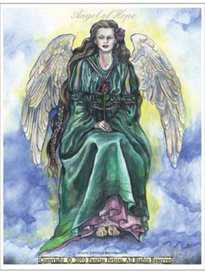"""Angel rose"" card"