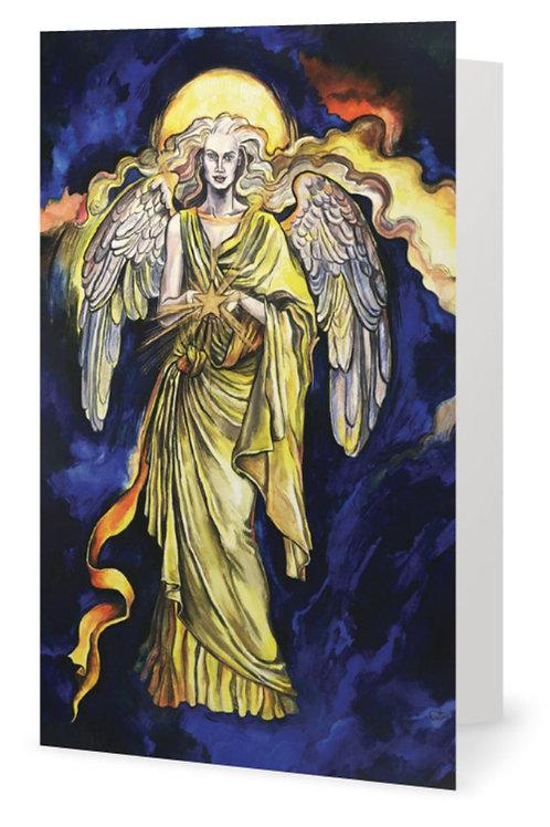 """""""Archangel Jophiel"""" card - Greek"""