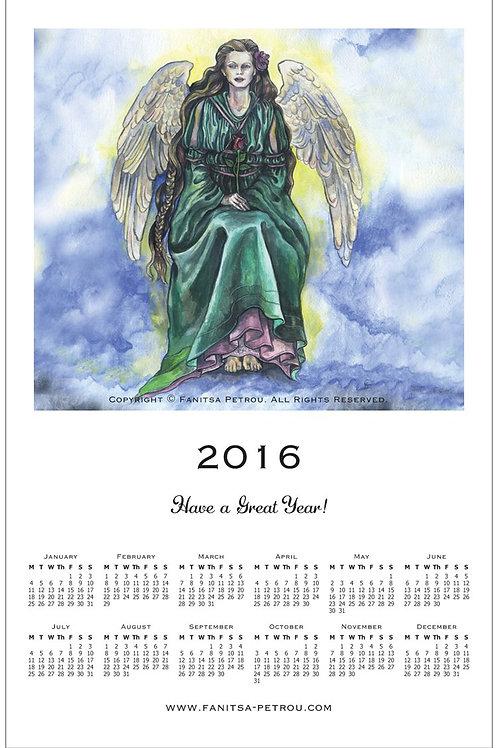 Angel rose Magnet Calendar, 2016