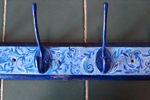 Hand painted hanger - blue