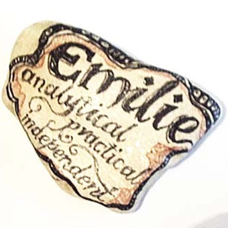 """""""Emilie""""- Hand painted Name Stone"""
