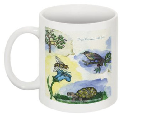 Bees & Turtles & Birds mug