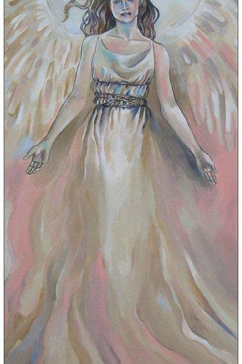 """Angel Light"" card - thin paper"