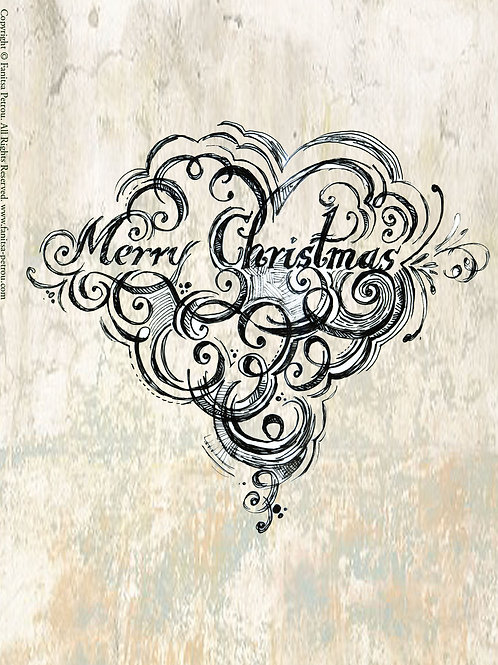 """""""Merry Christmas!"""" card"""