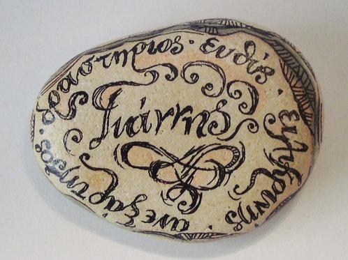 """""""Γιάννης""""- Hand painted Name Stone"""