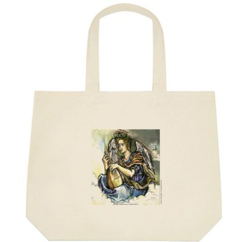 """Angel with mandolin"" tote bag /big"