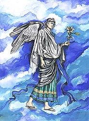 Fanitsa Petrou Art, the seven archangel posters, Archangel Gabriel, the 7 archangel cards, Angel Art, Angel calendar, the seven archangels illustrations, Angel illustration by Fanitsa Petrou, www.fanitsa-petrou.com