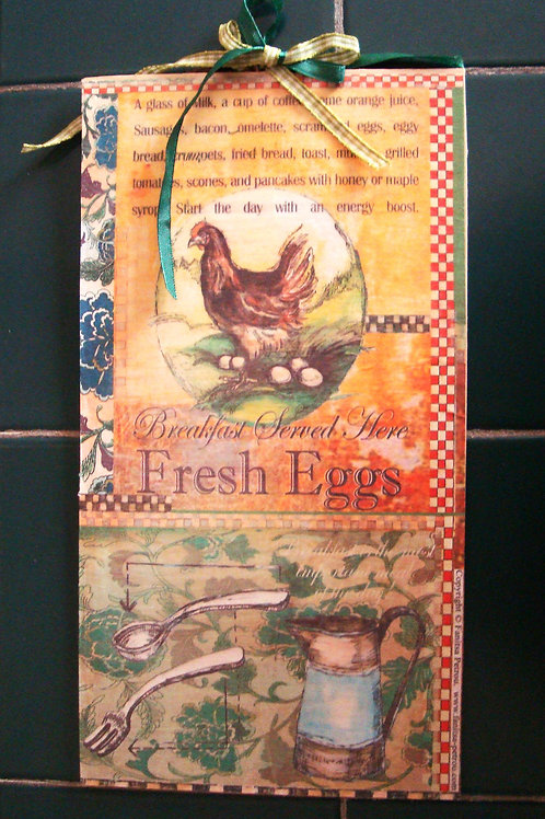 """""""French Country, 7""""- wooden sign"""