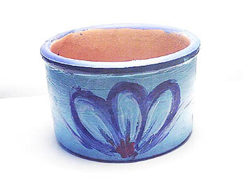 Blue clay flower pot