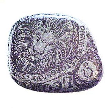Leo 5 - Hand painted Zodiac Stone
