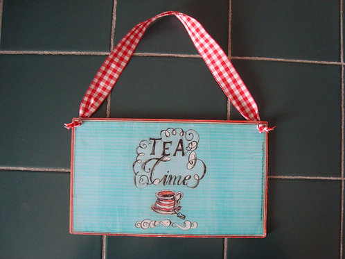 """Tea Time"" wooden sign"