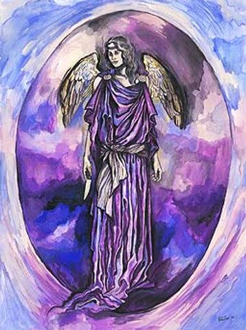 """Archangel Zedkiel"" poster"